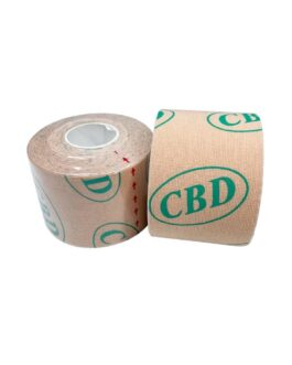 CBD Athletic Sports Kinesiology Tape Muscle Pain Relief Injury Recovery Therapy Support Knee Shoulder Ankle Elbow Shin Neck Elastic Breathable Waterproof Adhesive Therapeutic Tape 16'x2″ Uncut Roll